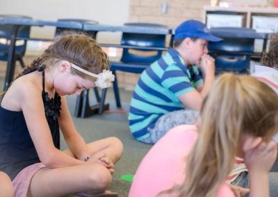 Prayer time in Kids Church
