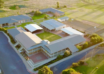 Parkes Christian School and Community Church from above